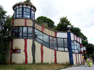 Autobahnraststätte Bad Fischau 2 - Hundertwasser, Architektur, Bad Fischau, Autobahnraststätte