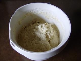 Hefeteig, Zubereitung #3 - Hefeteig, Mehl, Zucker, Margarine, Milch, Teig, geknetet