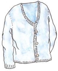 Jacke - Jacke, cardigan, veste, gilet, Kleidung, clothes, vêtements, Strickgewirk, Wolle, gestrickt, stricken, warm, Strickjacke, Knöpfe, Wärmeregulierung, Weste, Anlaut J, Anlaut W, Wörter mit ck