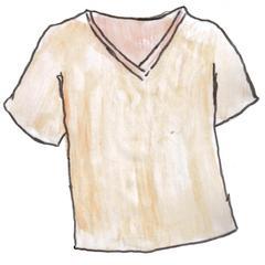 T-Shirt - T-Shirt, t-shirt, vêtements, Kleidung, clothes, Hemd, Leibchen, Leiberl, Kleidungsstück, Ärmel, kurz, Ausschnitt, V-förmig, Shirt, Anlaut T