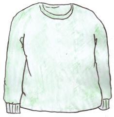 Pullover - Pulli, Pullover, pullover, pull, clothes, vêtements, Kleidung, gestrickt, gewirkt, Wolle, lange Ärmel, warm, Jumper, Ausschnitt, Bündchen, Anlaut P, Wörter mit v