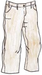 Hose - Hose, trousers, pantalon, clothes, vêtements, Kleidung, Beinkleid, Hosenbeine, Taschen, Gürtelschlaufen, Anlaut H