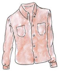 Hemd/Bluse - Hemd, Bluse, chemise, chemisier, shirt, Kleidung, clothes, vêtements, hemdartig, Kleidungsstück, Hemdbluse, Manschetten, Knöpfe, Stoff, Kragen, Taschen, Mode, Anlaut B, Anlaut H