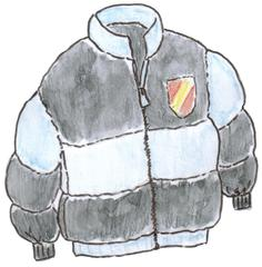 Anorak - Kleidung, vêtements, Anorak, clothes, Jacke, wetterfest, warm, Reißverschluss, Winterjacke, Schijacke, Anlaut A, Anlaut J, Blouson