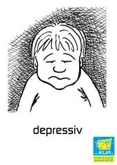 Gefühle #5 - Gefühl, Gefühlsausdruck, Gesichtsausdruck, Emotion, Empfindung, Stimmung, Gespür, empfinden, Gemütsbewegung, depressiv, gedrückt, niedergeschlagen, trübsinnig, unglücklich, trauern, bekümmert, betrübt, deprimiert, schwermütig, pessimistisch, melancholisch, elend, bedrückt, bekümmert, mutlos, geknickt, resigniert, trübselig, freudlos, Adjektiv