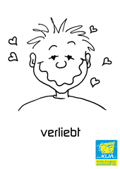 Gefühle #6 - Gefühl, Gefühlsausdruck, Gesichtsausdruck, Emotion, Empfindung, Stimmung, Gespür, empfinden, Gemütsbewegung, verliebt, Liebe, verknallt, vernarrt, Zuneigung, Verliebtheit, Schwärmerei, Schmetterlinge im Bauch, entbrannt, verzückt, leidenschaftlich, ergriffen, betört, verschossen, hingerissen, besessen, zugetan, bezaubert, jemanden den Kopf verdrehen, im siebten Himmel schweben, beseelt, Adjektiv