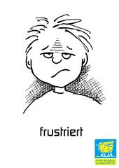 Gefühle #8 - Gefühl, Gefühlsausdruck, Gesichtsausdruck, Emotion, Empfindung, Stimmung, Gespür, empfinden, Gemütsbewegung, frustriert, enttäuscht, unzufrieden, Unzufriedenheit, Überschätzung, Selbsteinschätzung zu hoch, Nichterreichen eines Ziels, Zustand der Enttäuschung, versagen, ärgerlich, Adjektiv, Ernüchterung, Missbehagen, Unbehagen, unbehaglich, unbefriedigt sein, verdrossen sein, unausgefüllt sein, mürrisch, hadernd, verbittert, grollend