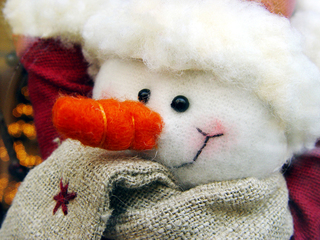 Schneemann - Deko, Weihnachtsdeko, Weihnachten, Brauchtum, Advent, Winter