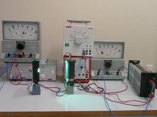 Fotoeffekt - Physik, Fotoeffekt, Quantenphysik, h-Bestimmung, Plancksches Wirkungsquantum, Quanten, Fotozelle, Quecksilberdampflampe, Gegenspannung