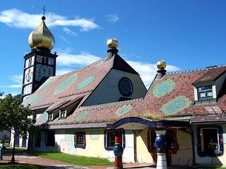 Kirche Bärnbach 2 - Hundertwasser, Kirche, Bärnbach, Sankt Barbara