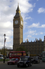 Big Ben  - London, Big Ben, Westminster, Houses of Parliament, Taxi, Bus, Doubledecker Bus, Turm, Glockenturm, Palace of Westminster