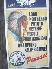 Wahlplakat der Lega Nord - Italien, Italienisch, Landeskunde, Wahlen, Politik, Lega Nord