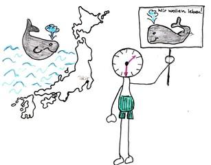 Herr Ticktack auf Reisen#2 - Japan, gegen Walfang, Urlaub, verreisen, Uhrzeit