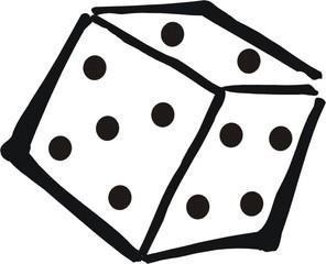 Ein Würfel - Würfel, werfen, spielen, Zahlen, Wahrscheinlichkeit