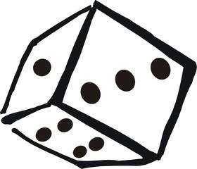 Ein Würfel - Würfel, Zahlen, spielen, würfeln, Wahrscheinlichkeit