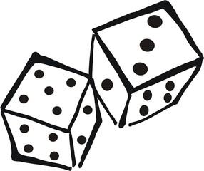Zwei Würfel - Würfel, zwei, Zahlen, werfen, würfeln, Wahrscheinlichkeit, Augen, Augenzahl