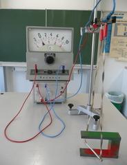 Leiterschaukelexperiment #2 - Physik, Induktion, Leiterschaukel, Magnet, Messverstärker