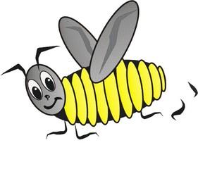 Fleißbienchen - Fleiß, Biene, emsig, Lob, Illustration