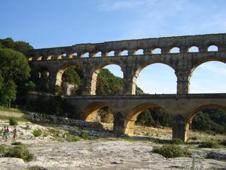 Pont du Gard - Pont du Gard, Frankreich, Aquädukt, Römer, Wasserleitung, Brücke, Bogen, Antike
