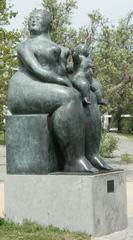 Mutterschaft - Maternidad #1 - Skulptur, modern, Botero, sinnliche, üppige, Bronzeskulptur, kolumbianischer Künstler, Figur, Bronzefigur