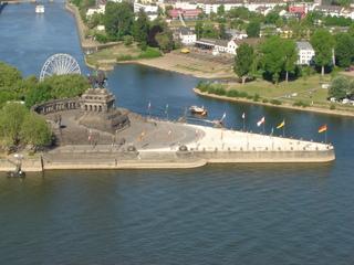 das Deutsche Eck - Deutsches Eck, Koblenz, Rhein, Mosel, Reiterdenkmal, Sehenswürdigkeit