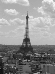 Eiffelturm - Eiffelturm, schwarz-weiß, Tour Eiffel, Paris, Sehenswürdigkeit, Frankreich, Wahrzeichen, Turm