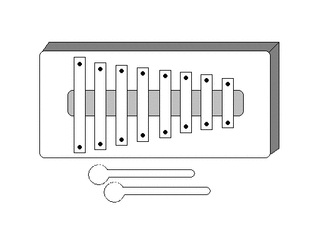Glockenspiel - Orff-Instrument, Musik, Xylophon, Instrument, Schlaginstrument, Hartholzstäbe, Holzschläger, löffelartig