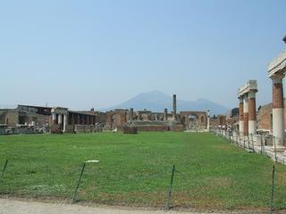 Forum in Pompeji - Italien, Römer, Pompeji, Vesuv, Forum, Antike, alt, Vesuv