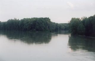 Flussmündung - Fluss, Mündung, Inn, Rott, Wasser, Zuflussstelle, Gewässer, Flussaue, Auenlandschaft, exogene Kräfte