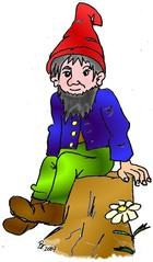 Zwerg - Zwerg, Märchen, Fantasie, Sage, kleinwüchsig, menschenähnlich, Zipfelmütze, klein, Wichtel, Wichtelmännchen, Anlaut Z