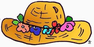 Strohhut - Hut, Kleidung, Kopfbedeckung, Stroh, Strohhut, Sonnenschutz, Mode, Blumenrand, geflochten, Anlaut H, Kostüm, Karneval, Fasching