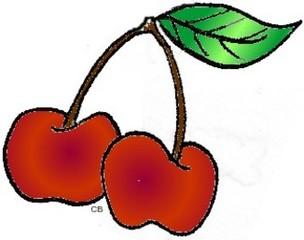 Kirschen - Obst, Essen, Kirsche, zwei, Anlaut K, Wörter mit sch