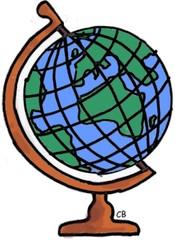 Globus - Erde, Geografie, Globus, Kugel, Gradnetz, Erdkugel, Welt, Weltkugel, Erdball, Rotation, Anlaut G, Anlaut E