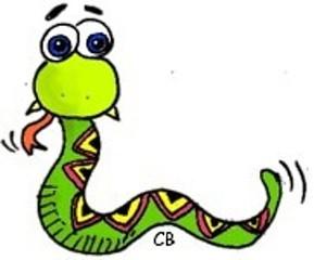 Schlange - Schlange, Reptil, Tier, Cartoon, Anlaut Sch, Zunge, Illustration