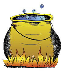 Topf - Topf, Geschirr, Haushalt, Märchen, Kochtopf, Garen, Speisen, Flamme, Feuer, Kessel, Hexenkessel