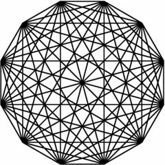 Geometrische Figuren mit Turtle #2 - Mathematik, Informatik, Turtle, Turtle-Grafik, Geometrie, Geometrische Figur, Grafik, Zwölf-Eck, Vieleck, Diagonale, Dodekagon, regelmäßig