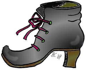 Schuh - Schuh, Kleidung, Märchen, Stiefel, Sohle, absatz, Schaft, Schnürsenkel, binden, Öse, Anlaut Sch, Anlaut St