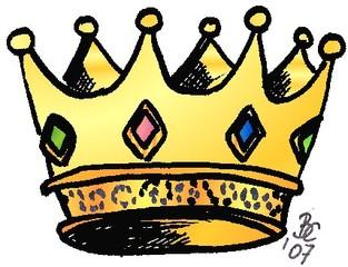 Krone - Krone, König, Märchen, Sage, Schmuck, Kopfschmuck, Edelsteine, Zacken, Anlaut K