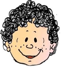 Lockenkopf - Kind, Mensch, Locken, Haare, Bursch, Bub, Junge, Frisur, Humor, lockig, Anlaut J, Kind, Wörter mit ck, Wörter mit pf