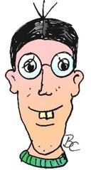 Bub mit großen Zähnen - Mensch, Comic, Bub, Junge, Zähne, Humor, Anlaut J, Illustration, Jugendlicher, Kind