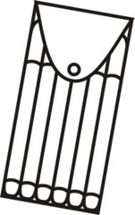 Filzstifte - Filzstifte, sechs, Mehrzahl, Packung, zeichnen, malen, Stifte, Anlaut St