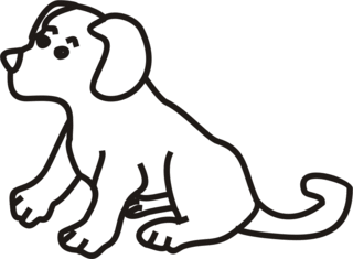 Hund - Hund, Hündchen, Haustier, Tier, Welpe, Anlaut H, Illustration