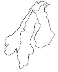 Skandinavien Umriss - Skandinavien, Umriss, Karte, Outline, Topographie, blanko, map