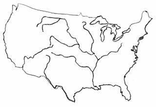 USA Umriss - USA, Umriss, Karte, Outline, Topographie, blanko, map