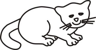 Katze - Katze, Babykatze, Kätzchen, Haustier, Anlaut K, Wörter mit tz