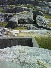 Schützengräben aus dem 2. Weltkrieg - Graben, Norwegen, Schützengraben, Stein, 2 Weltkrieg, Stein, Bunker, Freilichtmuseum, Lindesnes, Krieg