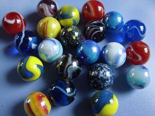 Murmeln - bunt, Murmel, Kugel, Menge, viel, rund, Glas, farbig, einundzwanzig
