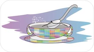 Sprichwörter - bildlich dargestellt - Sprichwort, Redewendung, Umgangssprache, bildlich, Haar, Suppe, finden