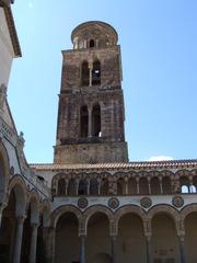 Turm des Domes von Salerno - Salerno, Italien, Kampanien, Dom, Kirche, Architektur