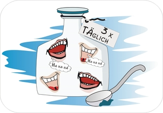Sprichwörter - bildlich dargestellt - Sprichwort, Redewendung, Umgangssprache, bildlich, Lachen, Medizin